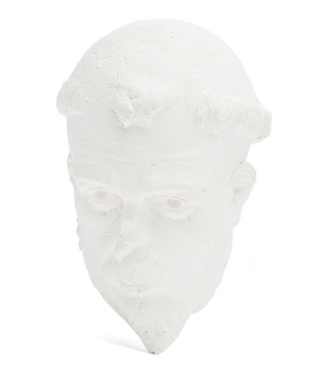 Plaster Benedict Monk Head