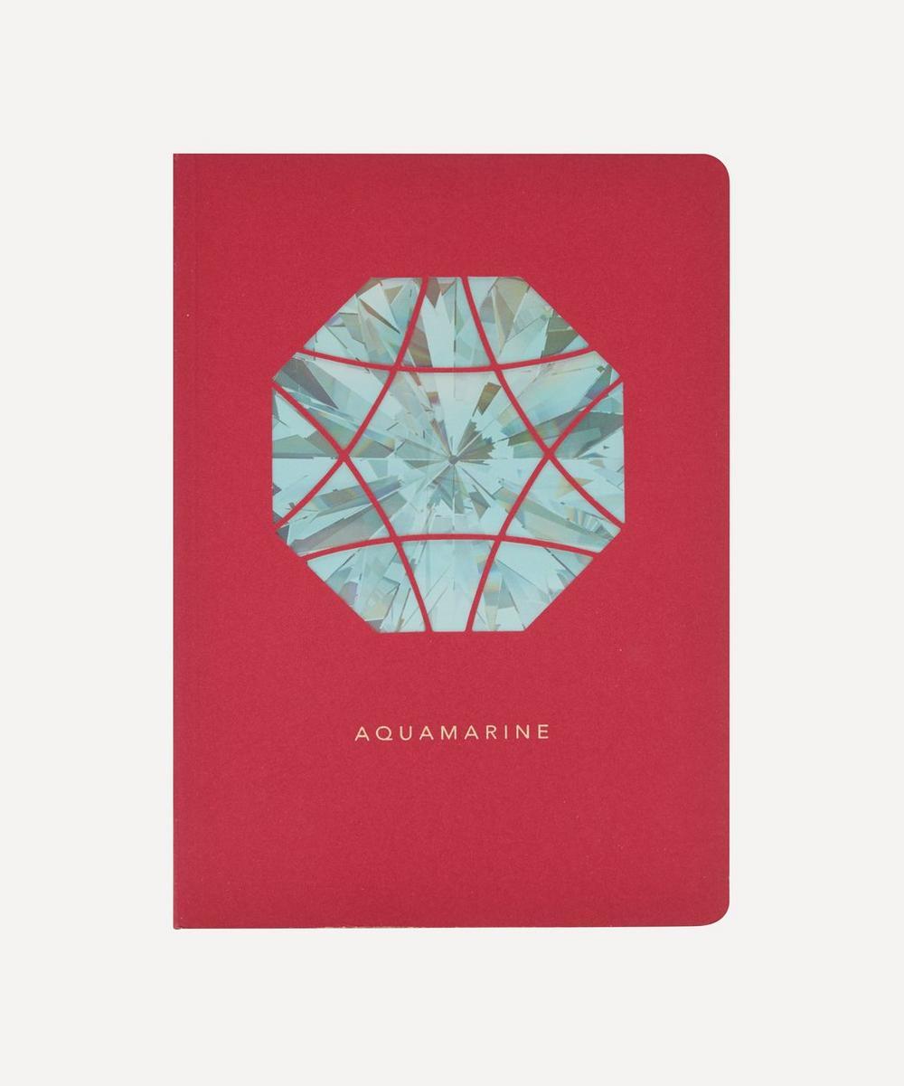Birthstone Aquamarine Notebook