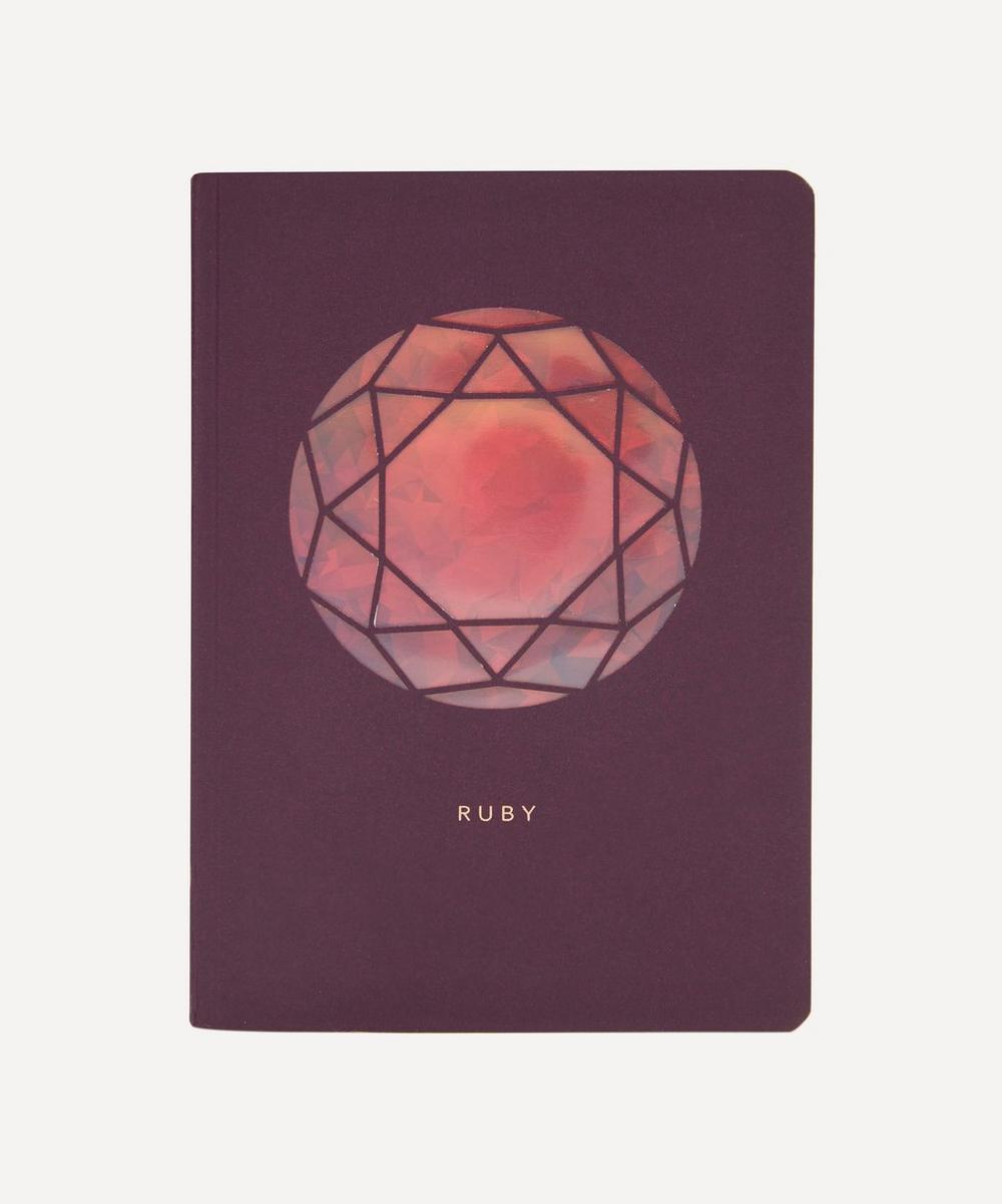 Birthstone Ruby Notebook