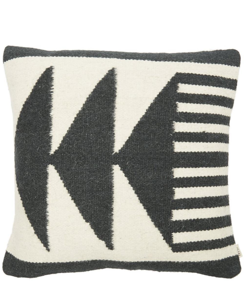 Kelim Black Triangles Cushion