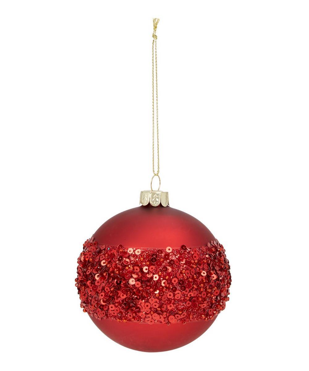 Cherry Glitter Bauble