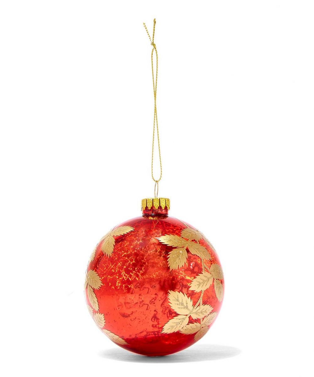 Antique Gold Leaf Bauble