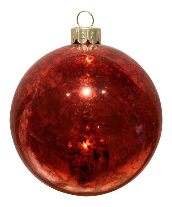 Antique Red Glass Bauble