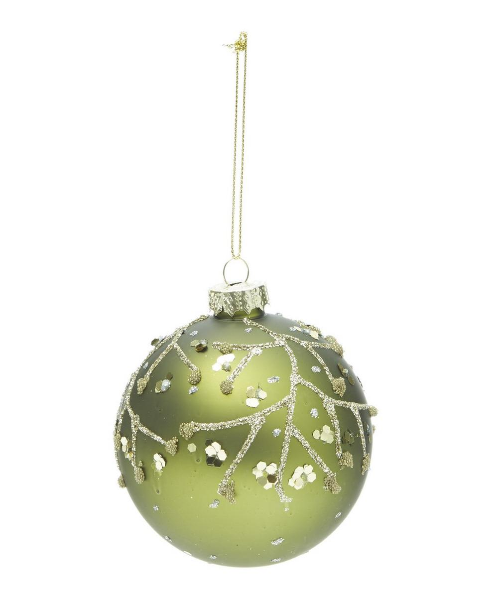 Glass Sequin Twigs Bauble