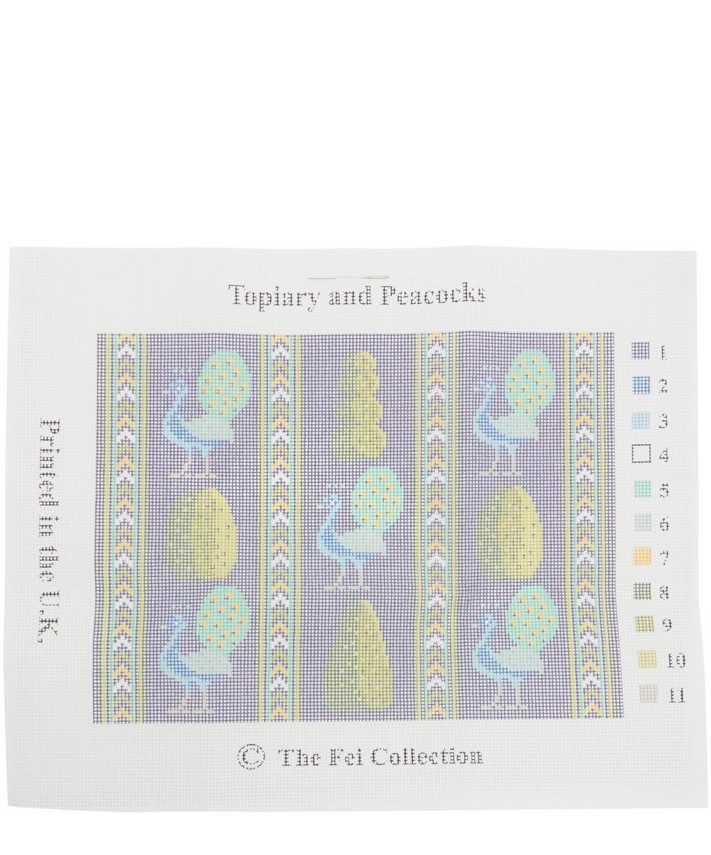 Topiary and Peacocks Needlepoint Kit