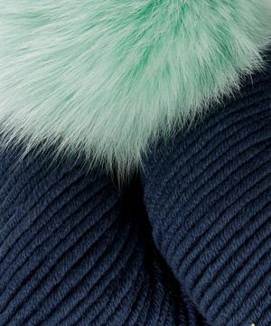 Faux Fur Pom Pom Hat Knitting Kit