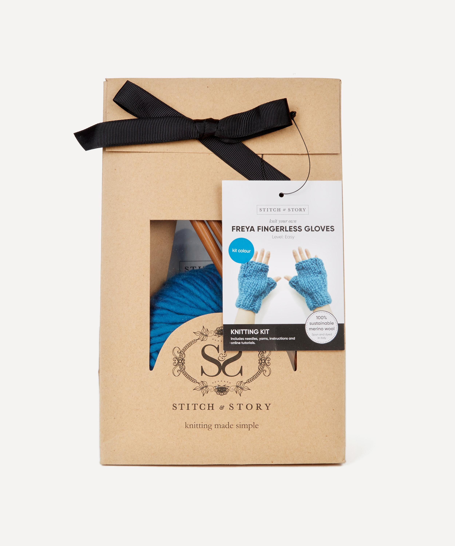 Freya Fingerless Gloves Knitting Kit | Liberty London