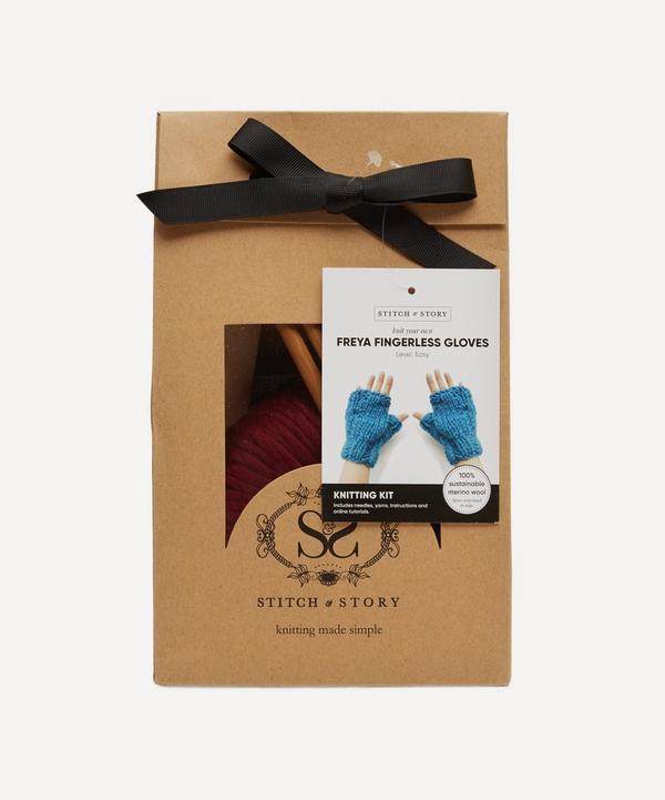 Stitch and Story - Freya Fingerless Gloves Knitting Kit