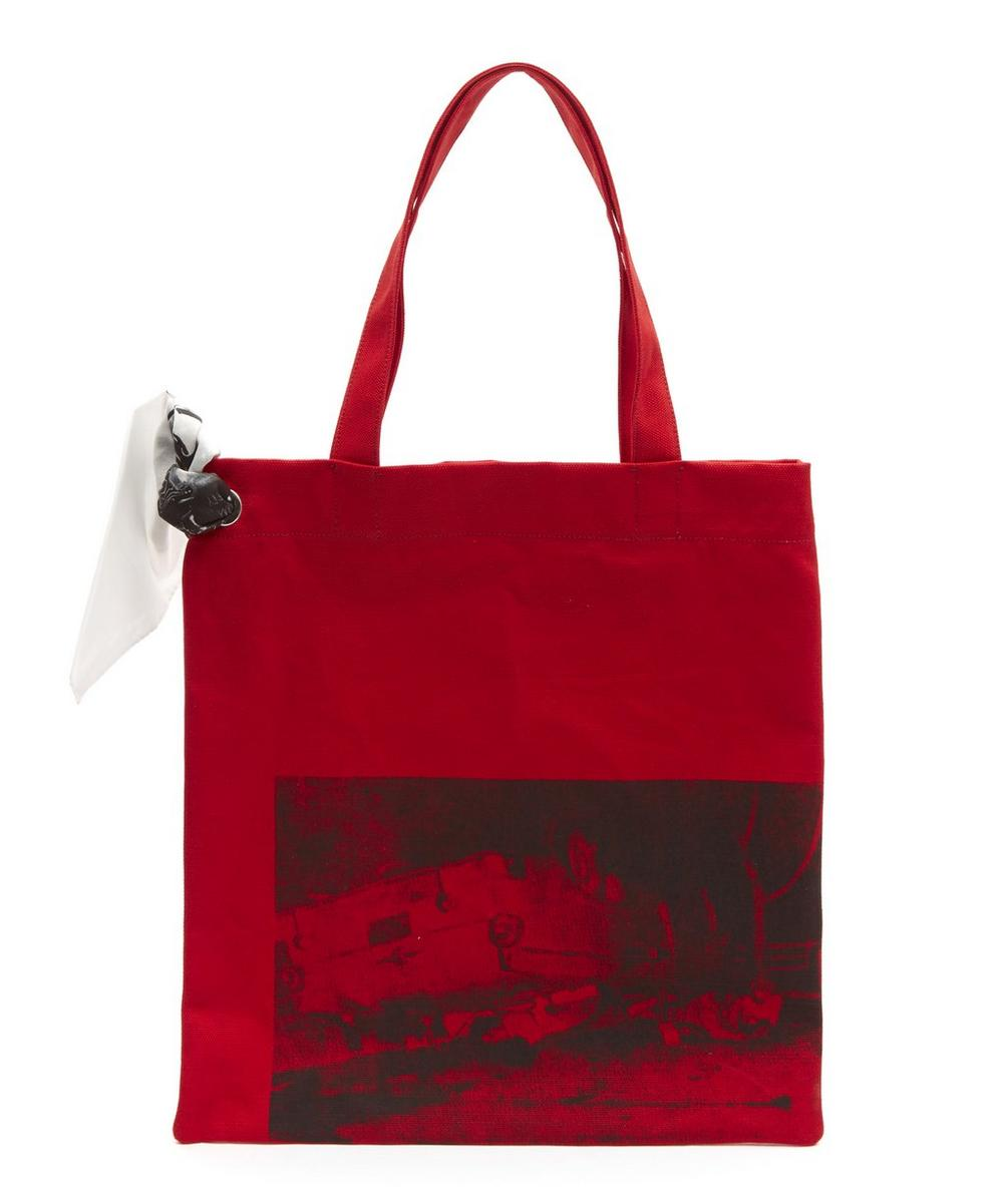 Warhol del bolsa de en Klein rojo de estampado Calvin asas museo con La 205w39nyc B0RwTqw