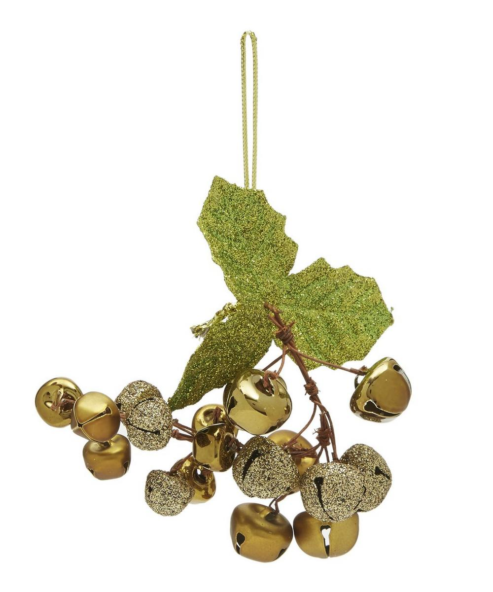 Gold-Tone Jingle Bell Cluster Decoration