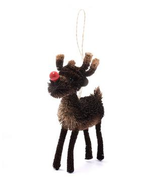 Bristle Red Nose Reindeer