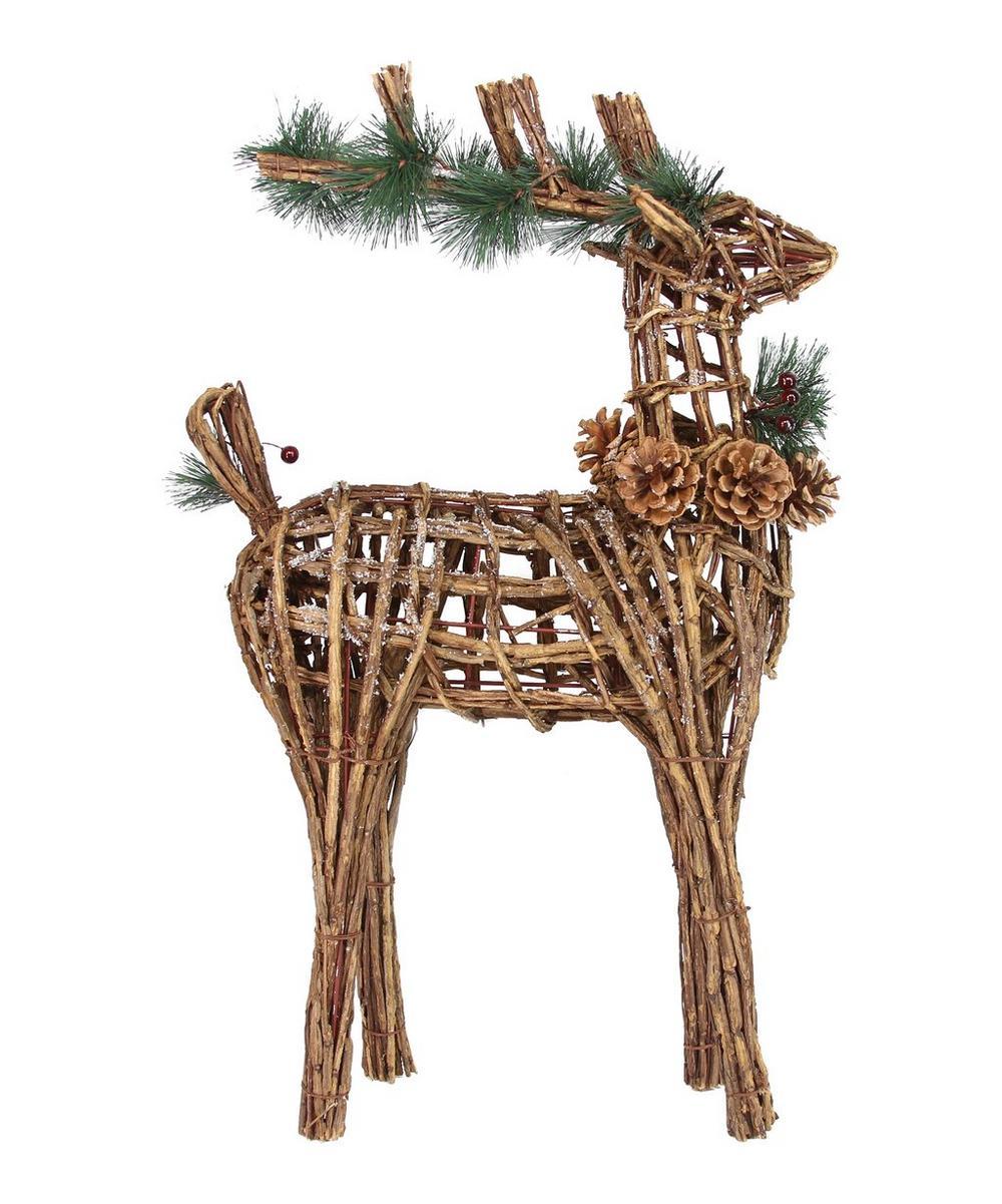 Small Twig Reindeer Decoration