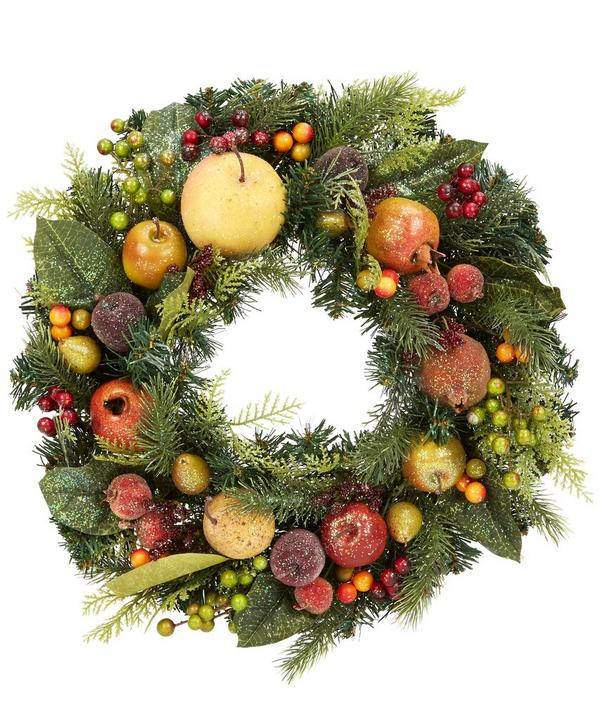 Fir Wreath with Fruit and Berries
