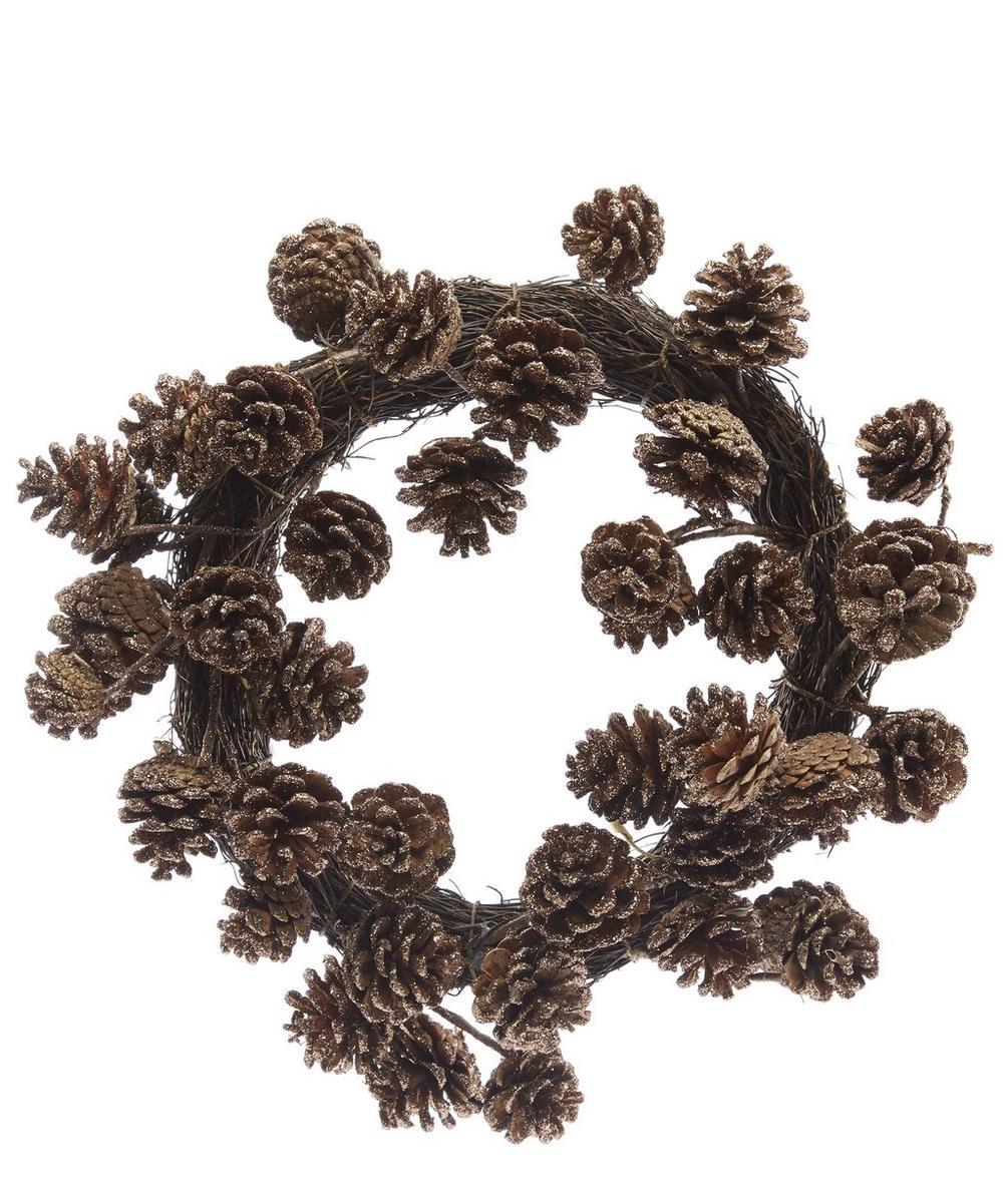 Glitter Cone Wreath