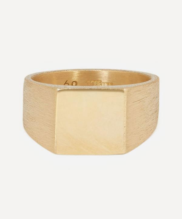 All Blues - Gold Plated Vermeil Silver Platform Ring