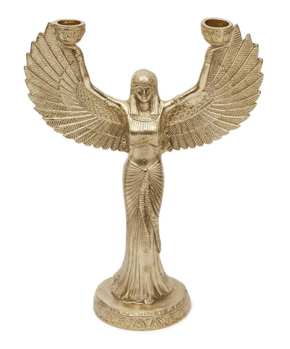 Brass Phoenix Candle Holder