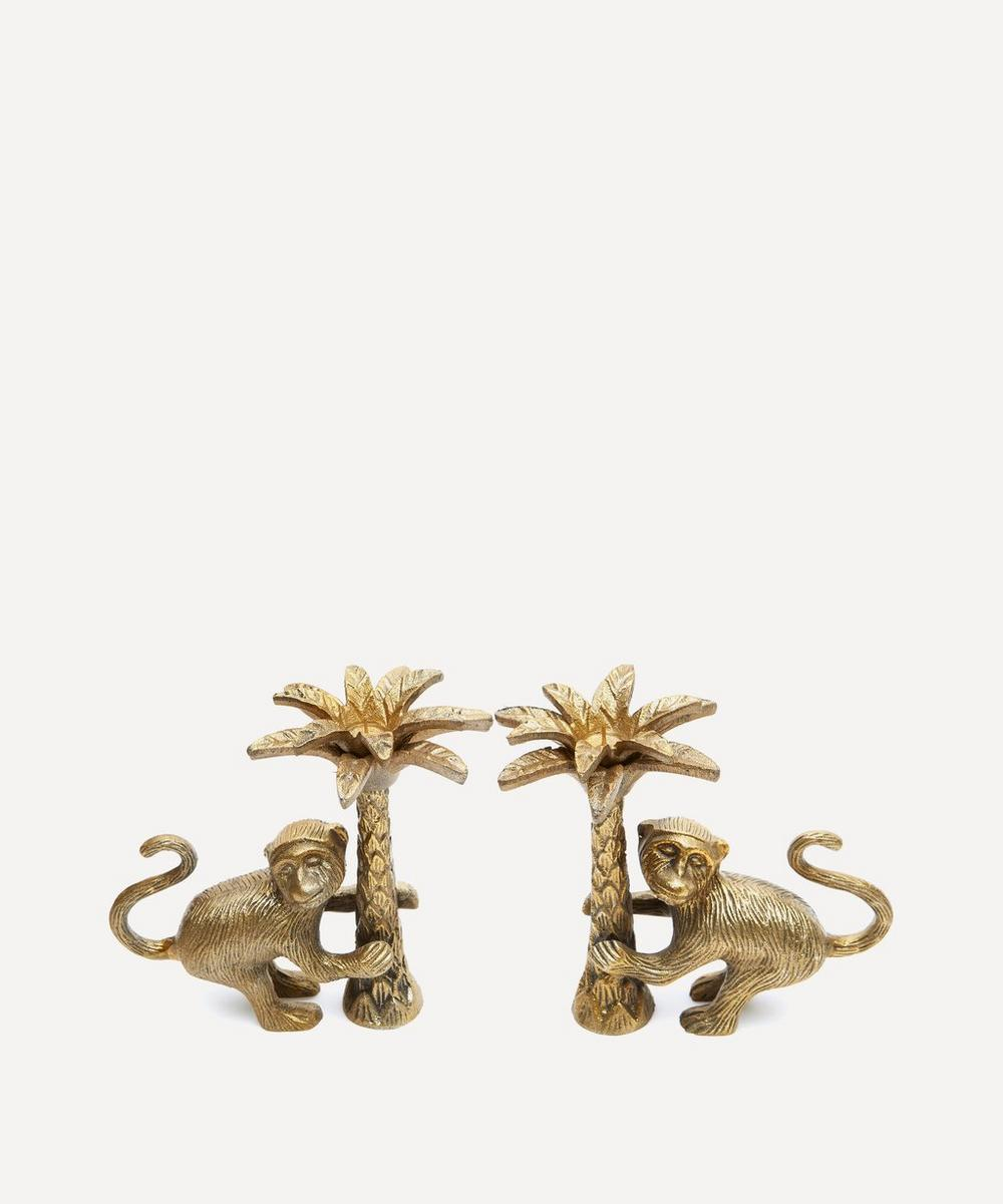Macy Monkey Candle Holder Set of Two