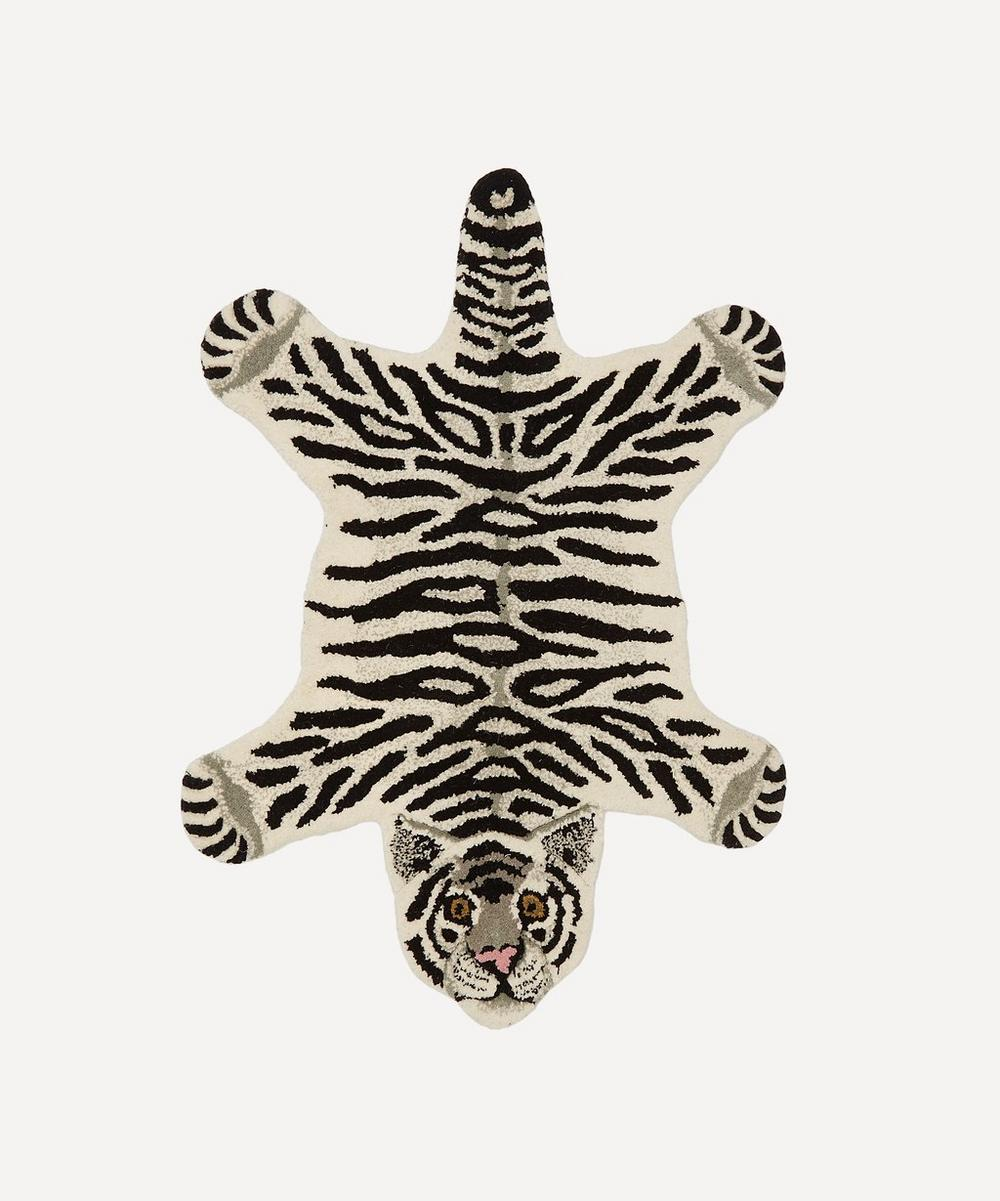 Small Snowy Tiger Rug