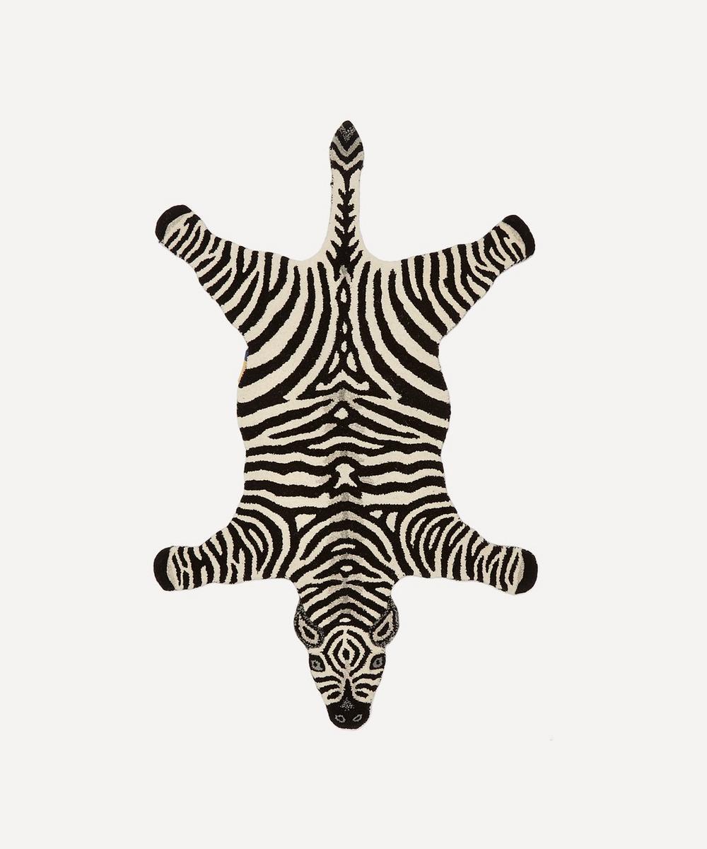 Zebra Rug Large: Large Chubby Zebra Rug