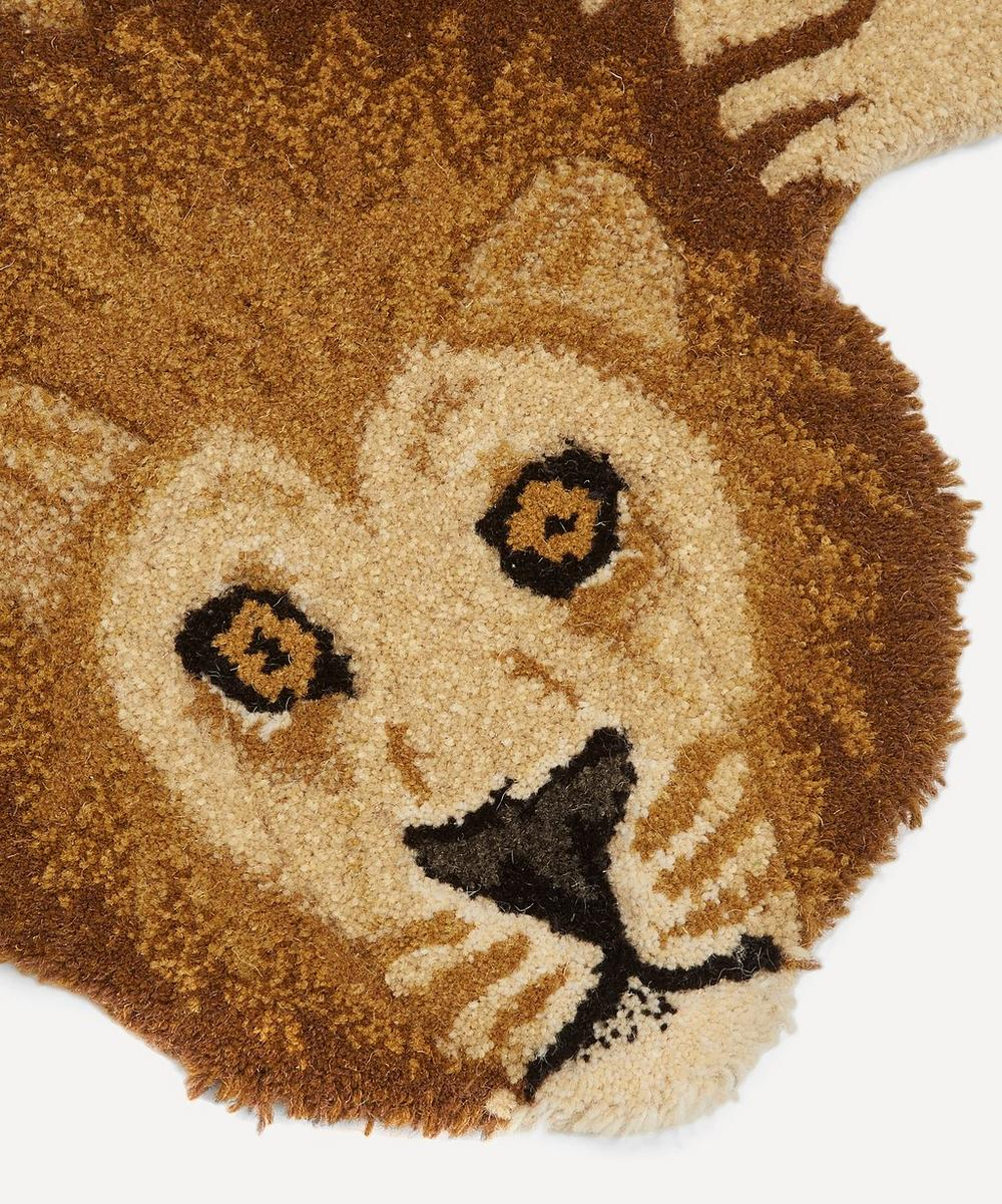 Small Moody Lion Rug