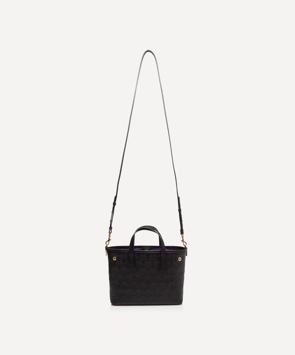 Mini Marlborough Cross-Body Tote Bag in Embossed Leather