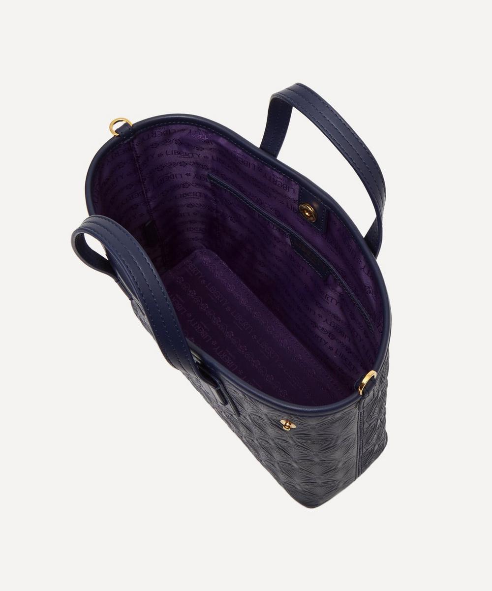 Mini Marlborough Cross-Body Tote Bag in Embossed Leather