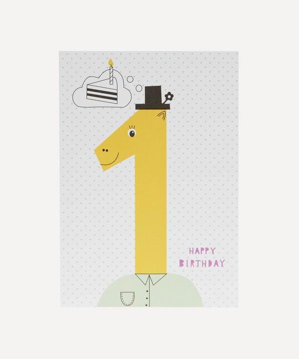 Karin Akesson - Happy Birthday Age 1 Card