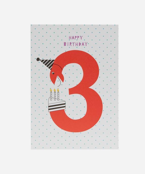 Karin Akesson - Happy Birthday Age 3 Card