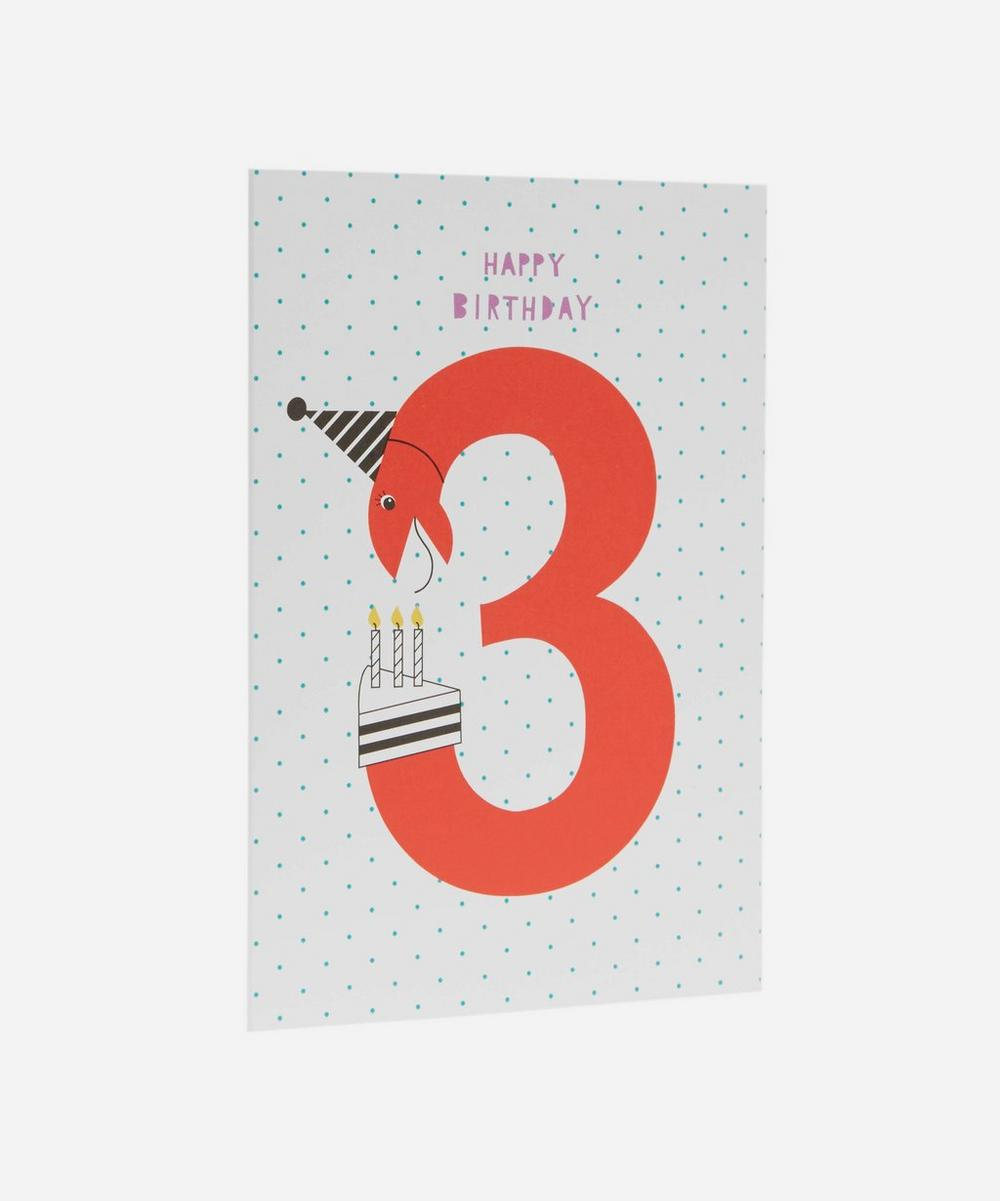Happy Birthday Age 3 Card