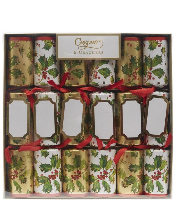 Gilded Holly Crackers Box of 6