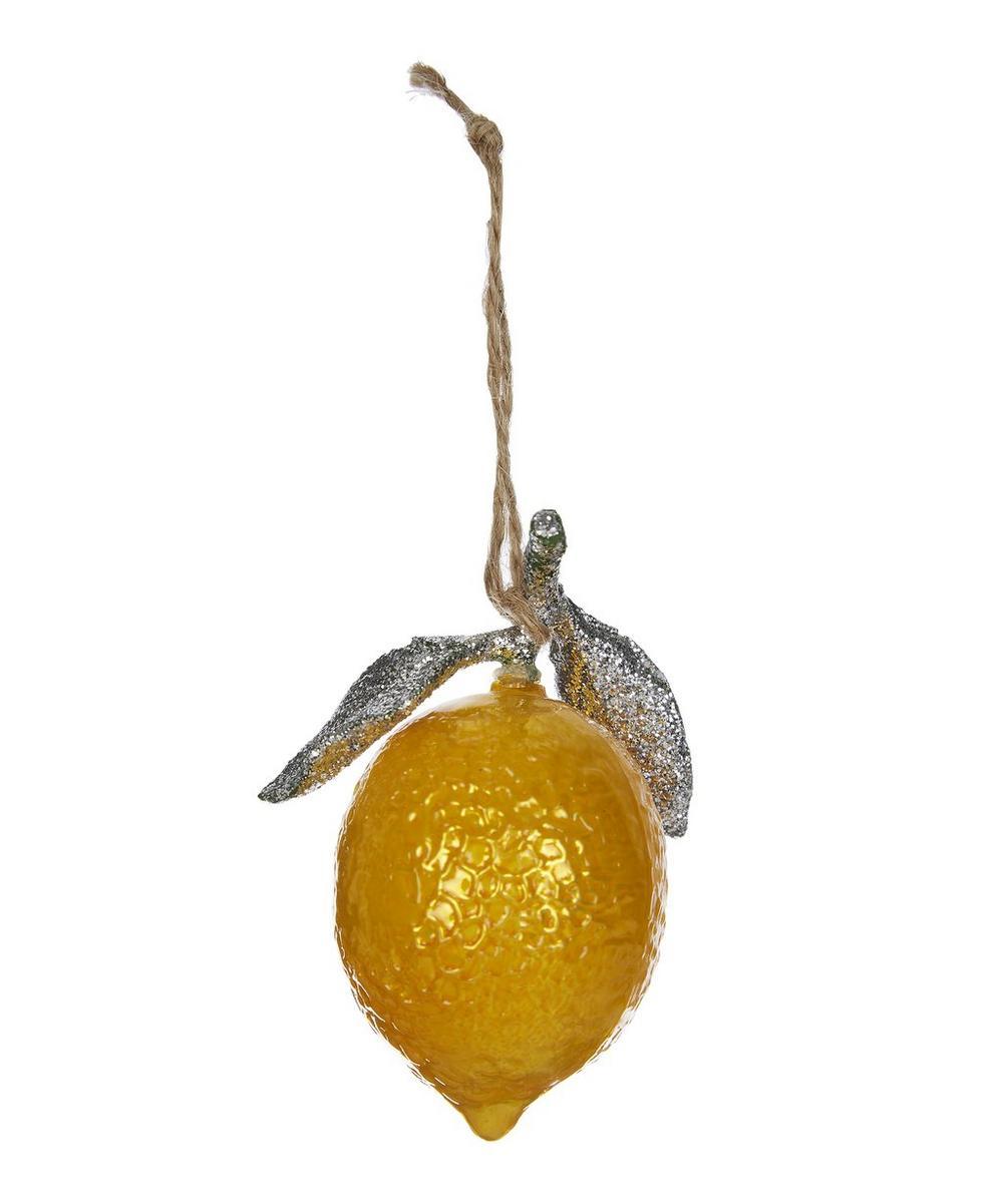 Glass Lemon Ornament