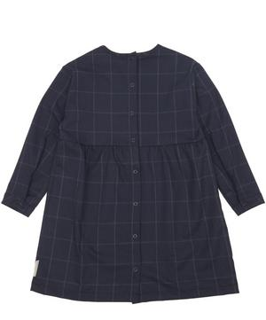 Grid Flannel Long Sleeve Dress 0-18 Months