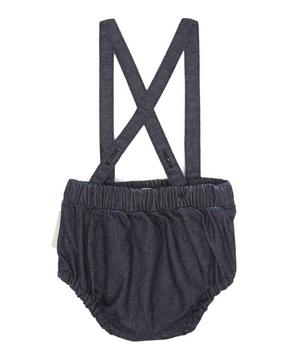 Denim Bloomers With Braces 0-18 Months