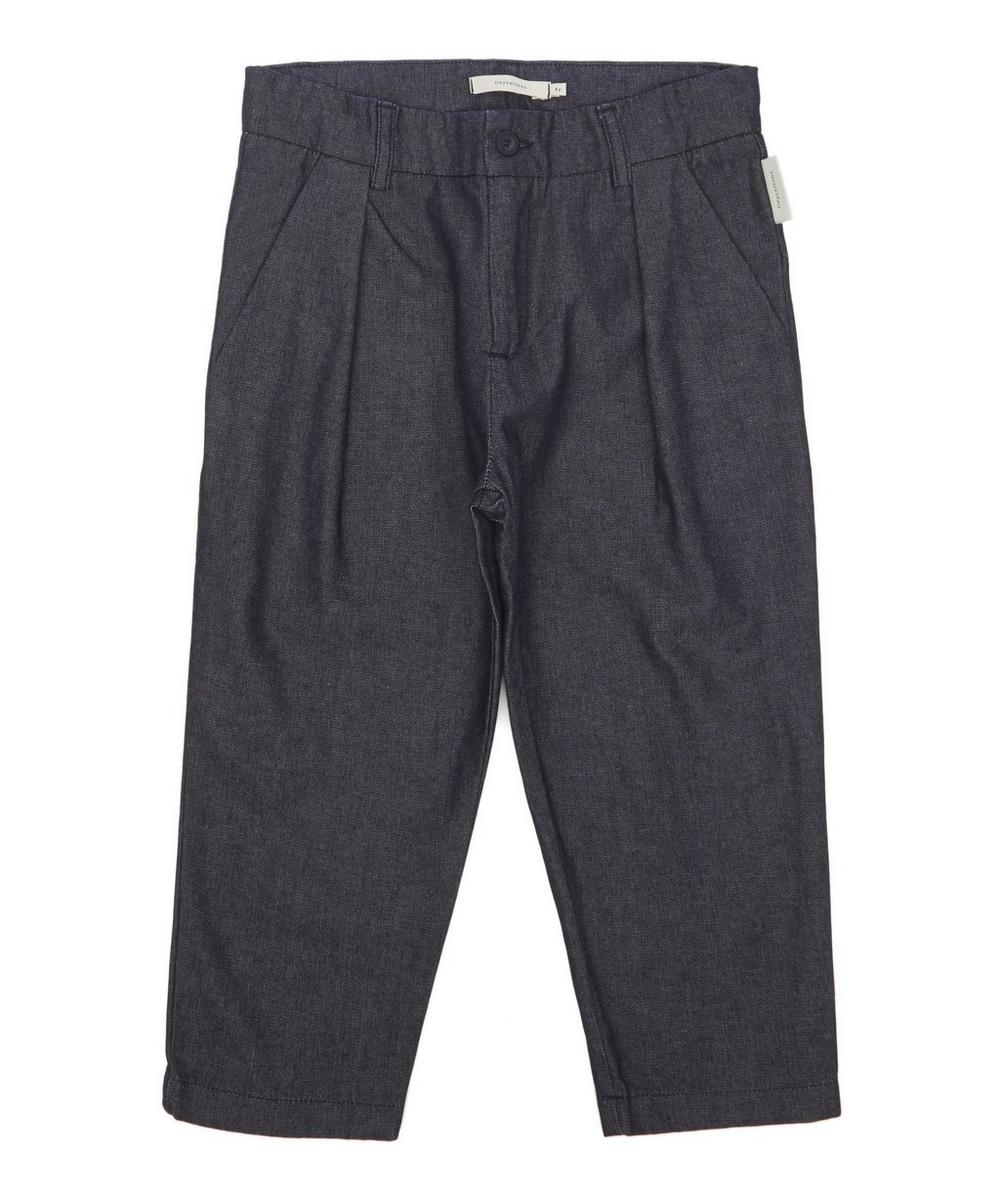 Denim Pleated Pants 2-8 Years