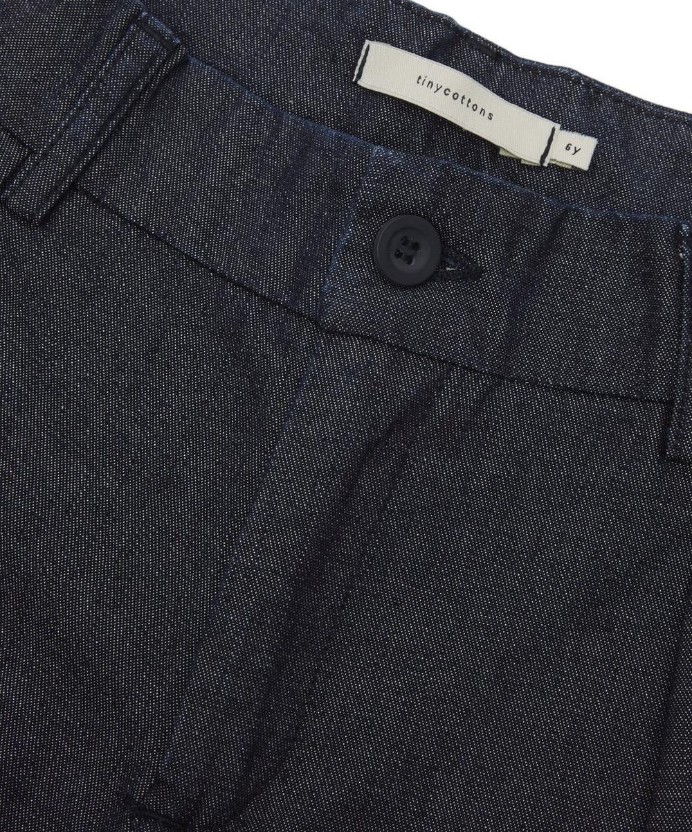 Denim Pleated Pants 2-8 Years