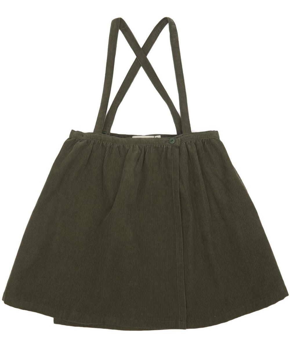 SOLID CORDUROY BRACES SKIRT 2-8 YEARS
