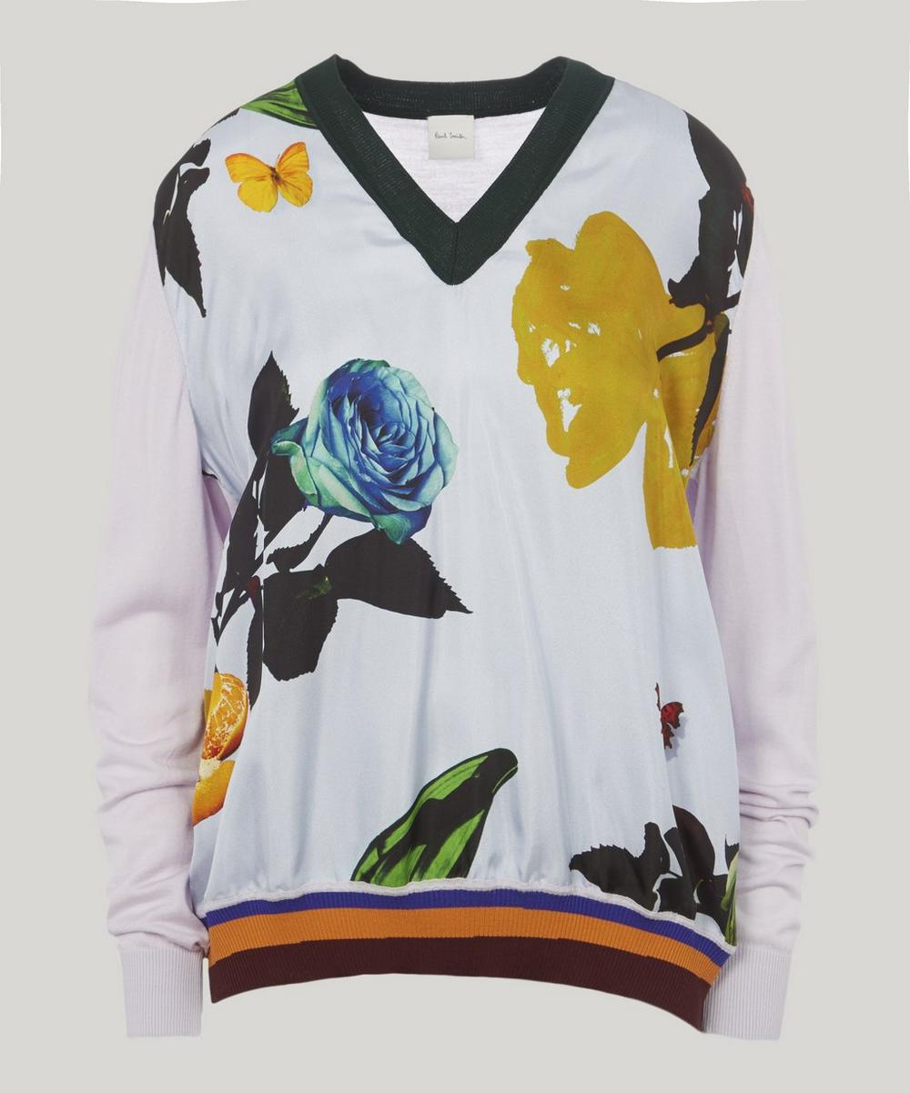 Paul Smith FLORAL JERSEY KNIT JUMPER