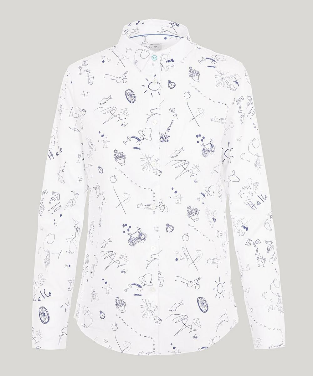 PAUL SMITH SKETCHBOOK COTTON SHIRT