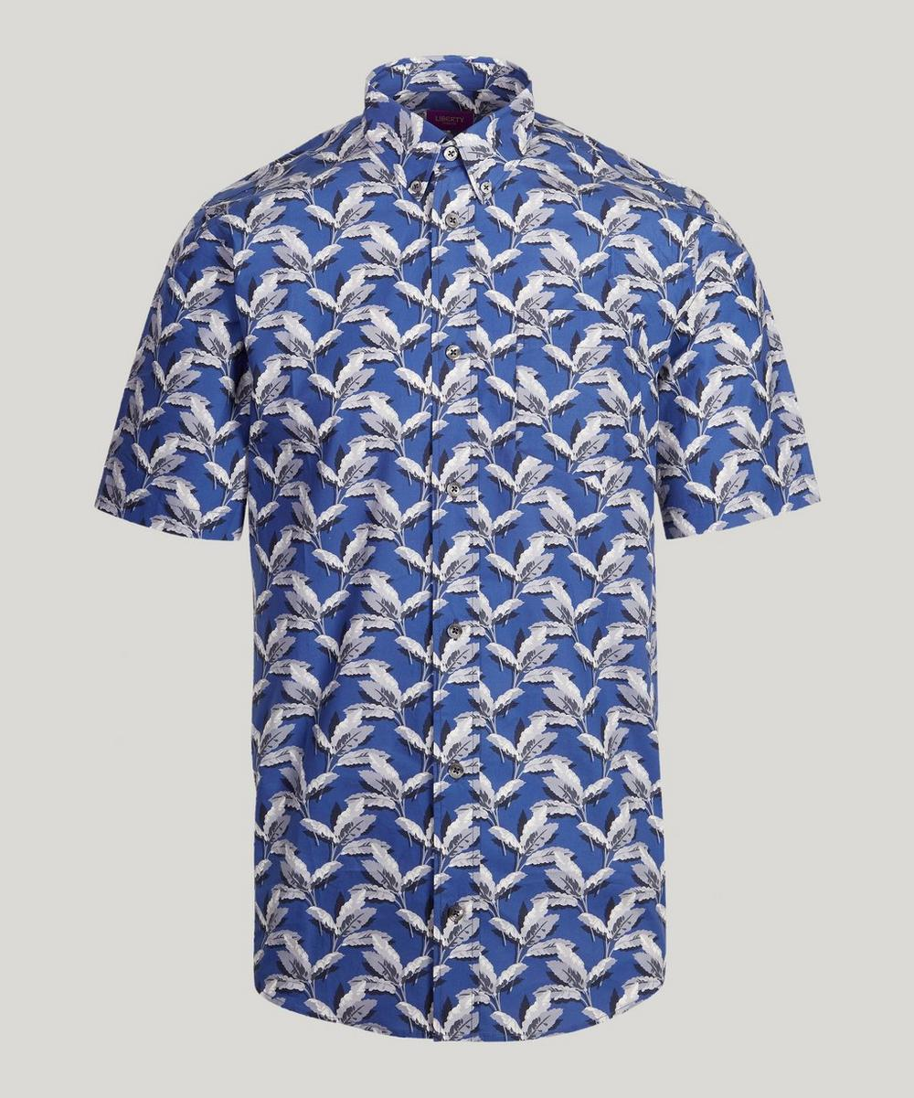 Paradise Palm Poplin Short Sleeve Mens Shirt