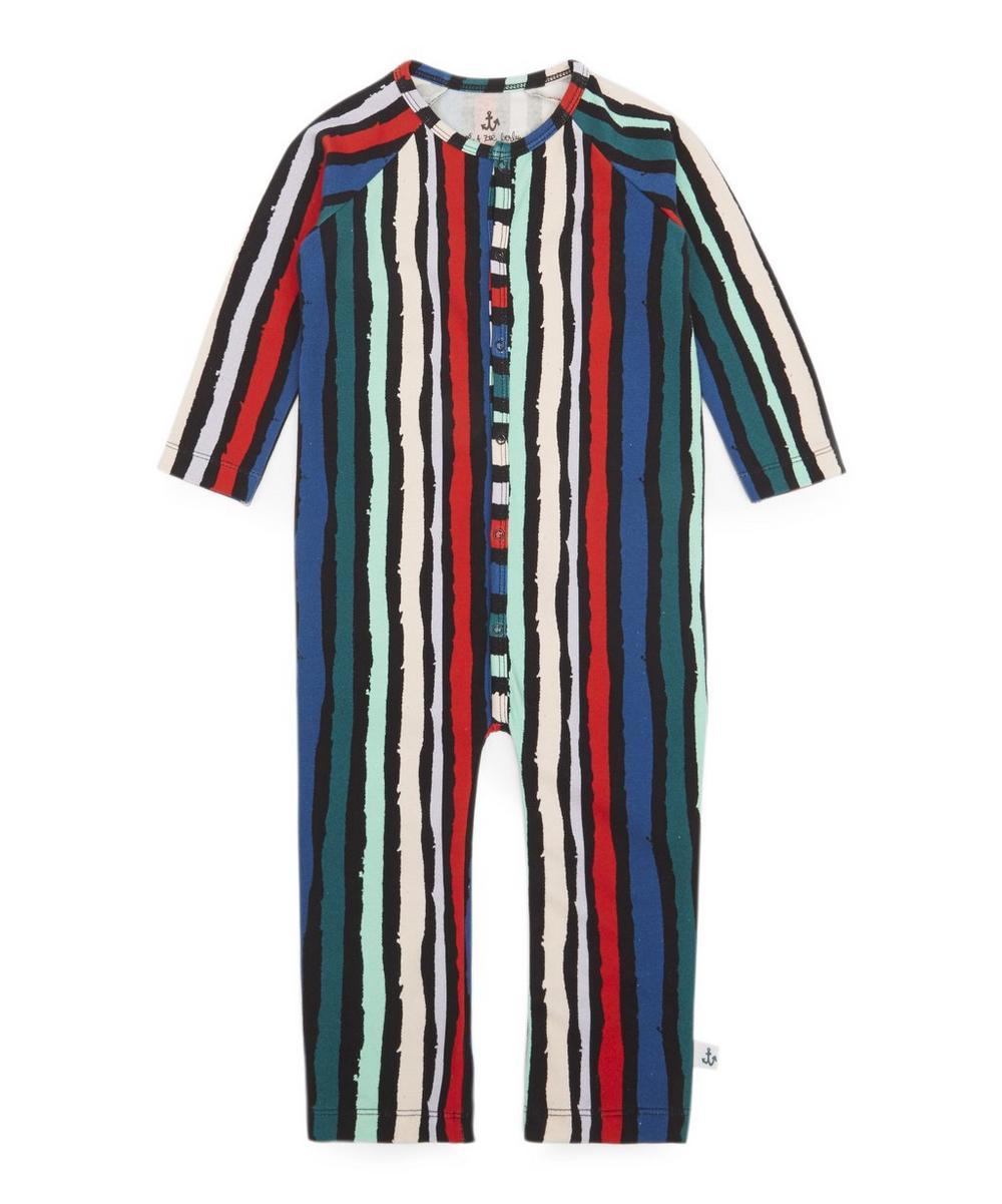 Winter Stripe Playsuit 0-24 Months