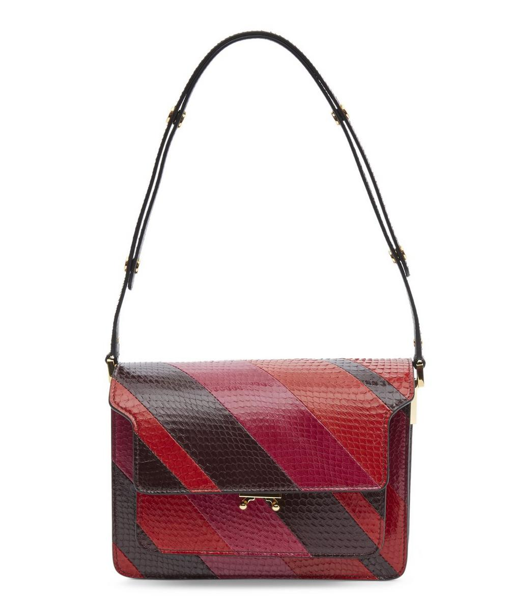 Striped Snake Trunk Shoulder Bag