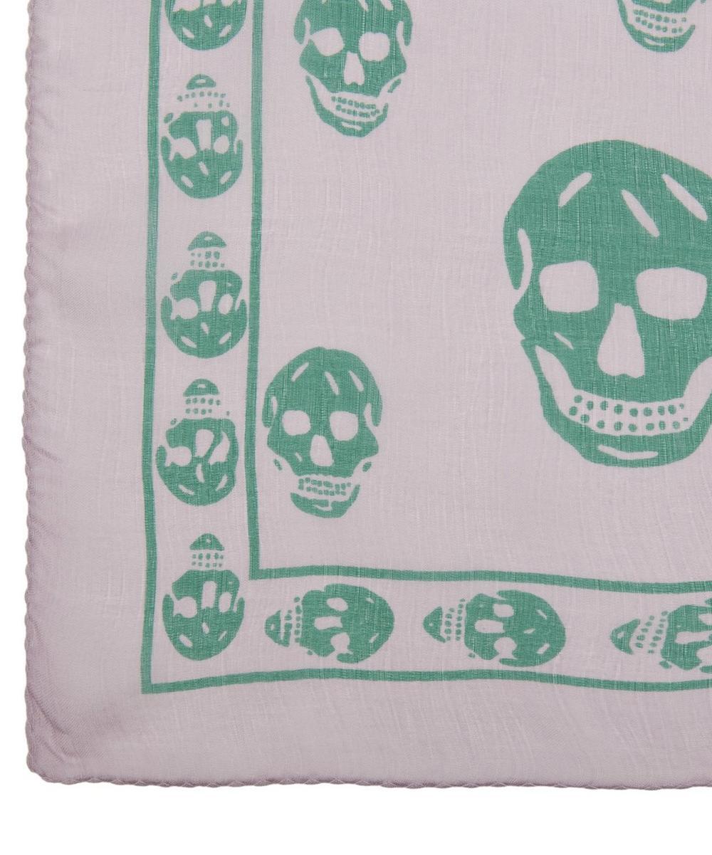 Skull Print Chiffon Scarf