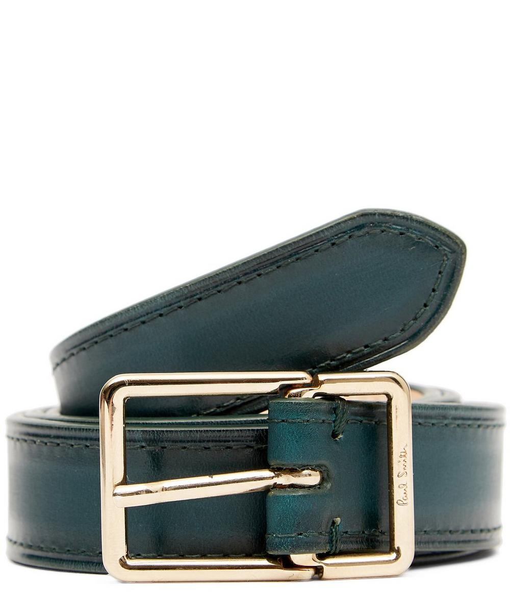 ABURNI BURNISHED LEATHER BELT