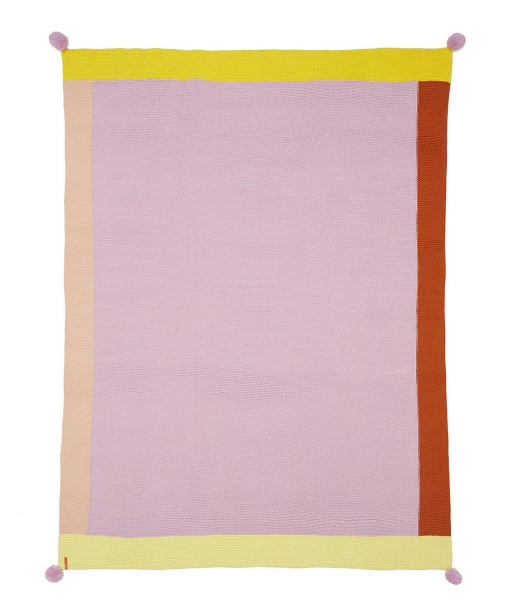 Lilac Borders Pom-Pom Throw