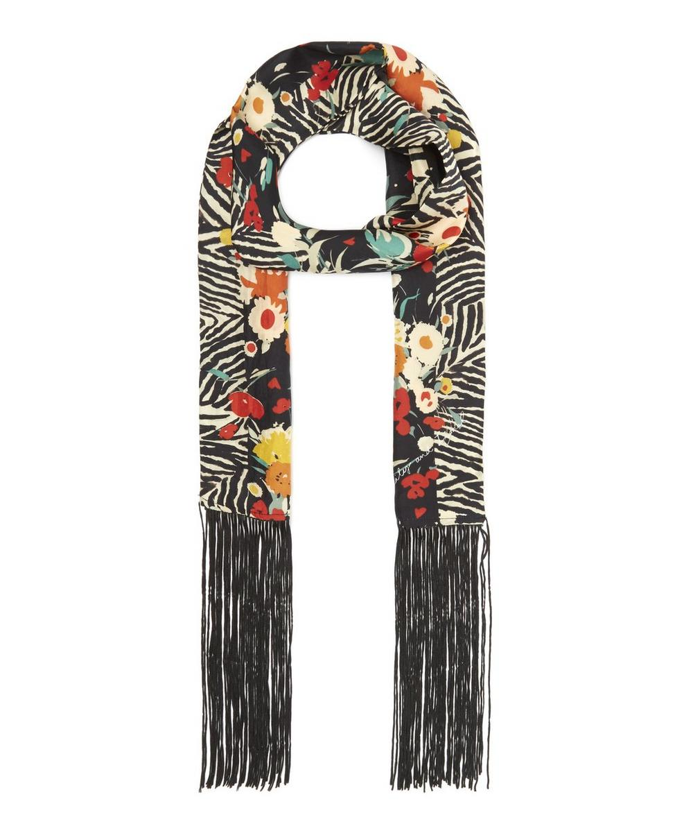 LILY AND LIONEL WILDFLOWER SKINNY SCARF