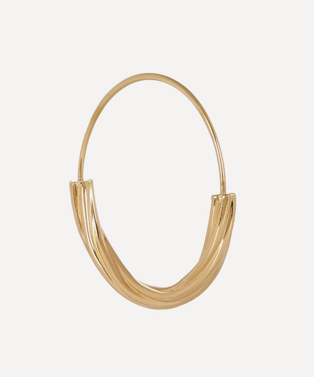 Gold-Plated Tove Medium Hoop Earring