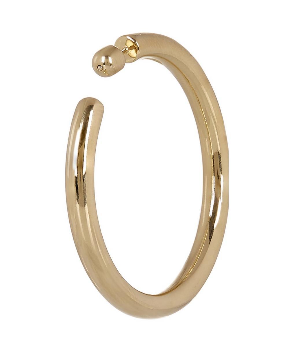 Gold-Plated Ruby 50 Hoop Earring