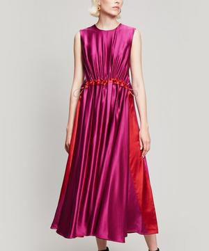 Keeva Silk Midi-Dress