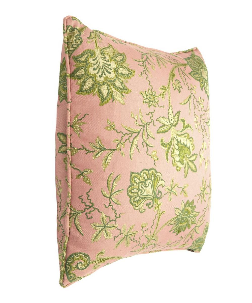 Large Indienne Amaranth Jacquard Cushion