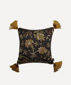 Medium Indienne Tasselled Jacquard Cushion